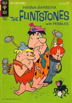 Cover for The Flintstones (Western, 1962 series) Animated Cartoon Characters, Cartoon Books, Children's Comics, Comics Story, Ink Illustrations, Pencil Illustration, Fred Flintstone, Pebbles Flintstone, Comic Book Covers