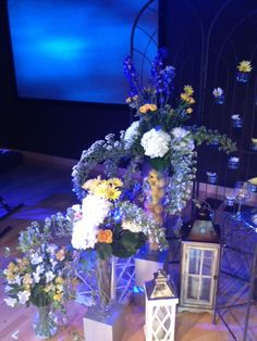 The colors at this wedding were royal blue and yellow  Jen Antoniou Weddings and Events www.jenantoniouweddings.com events@jenantoniou.com 707-992-5872