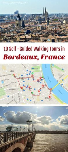 10 expert designed self-guided walking tours in Bordeaux, France to explore the city on foot at your own pace. Each walk comes with a detailed tour map and together they are the perfect Bordeaux city guide for your trip. Europe Travel Tips, European Travel, Travel Advice, Travel Guides, Travel Destinations, Budget Travel, Tours France, Bordeux France, Aquitaine