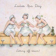 Cards » Ladies Spa Day » Ladies Spa Day - Berni Parker Designs