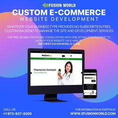 Whatever Your Business Type Provides No Subscription Fees, Custom Backend To Manage The Site And Development Services. For FREE 30 minute phone consultation with one of industry's expert to launch your E-Commerce business via e-mail at info@efusionworld.com. E Commerce Business, Responsive Web Design, Web Design Services, Ecommerce, Product Launch, Website Designs, Free, Phone, Telephone