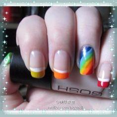 rainbow french tips