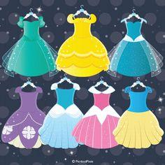 Princess Clipart, Costume party, Princess costumes, Princess dresses - PART 1 Toddler Princess Dress, Disney Princess Dresses, Princess Costumes, Disney Princesses, Princess Birthday, Princess Party, Film Princess, Holiday Outfits, Holiday Clothes