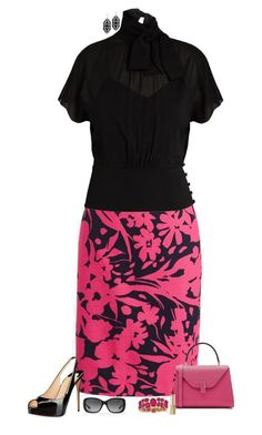667a3b6de7f Black   hot pink by julietajj on Polyvore featuring polyvore fashion style  RED Valentino J.