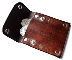 Customizable Leather Coin Pouch by seattleleather on Etsy, $18.50