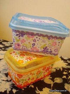 Desperte a Criatividade : Reciclagem de pote de margarina