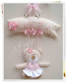 Enfeite de Porta Maternidade de Ursinha R$ 89,99