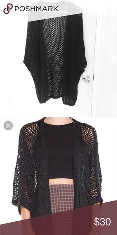 Black Finn Cardigan Brandy Melville. Good condition. No trades Brandy Melville Sweaters Cardigans