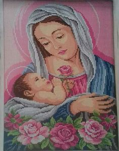 Baby Cross Stitch Patterns, Hand Embroidery Patterns, Cross Stitch Designs, Beading Patterns, Cross Stitch Embroidery, Cross Stitch House, Cross Stitch Angels, Cross Stitch Flowers, Crochet Tablecloth