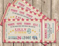 Invito del circo. Invito di compleanno del di LittleMountainTop