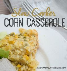Check out this recipe for slow cooker corn casserole!  It's a great addition to a holiday meal, when oven space is at a premium!