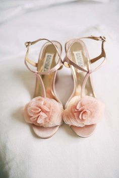 9a7dd9c413ac00 Badgley Mischka  pink  wedding shoes - just lovely! Bridal Shoes
