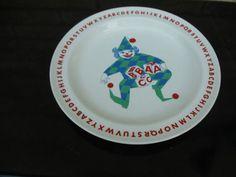 Arabia Finland ABC child's plate