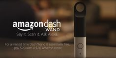 Amazons Dash Wand lets you order groceries with your voice You may remember the Amazon Dash a small handheld device that made it easier for you to buy even more stuff. Now Amazon has released a new version of the device the Dash Wand that is functionally free for Prime members.  The Amazon Dash Wand integrates with Alexa to help you out in the kitchen  you can convert measurements find recipes and buy ingredients youve run out of. All you have to do is press the button and speak or scan a…