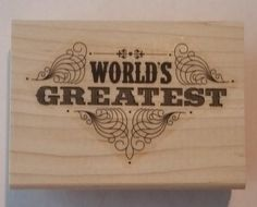 Stampin' Up! WORLD'S GREATEST mom dad brother sister teacher friend father's day #StampinUp