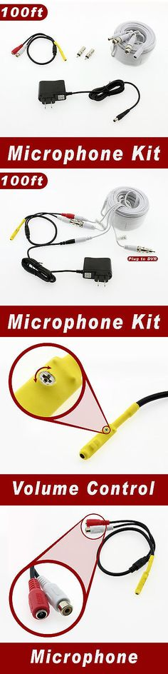 Surveillance Accessories: [100Ft Length] Microphone Kit For Swann Surveillance Security System -> BUY IT NOW ONLY: $41.99 on eBay!