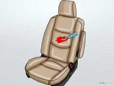 Removing stains from auto upholstery.