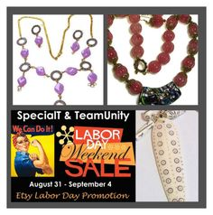 """""""Beaded Necklace Shoppe #LaborDaySale"""" by rescuedofferings ❤ liked on Polyvore featuring interior, interiors, interior design, home, home decor and interior decorating"""