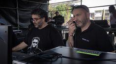 Leo Federici y Rocoto Mantini @vivelatino Escenario @cervezatecate @notevagustaroficial