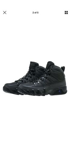 newest f23a7 d4694 MEN S AIR JORDAN 9 RETRO BOOT NRG AR4491-001 BLACK BLK-CONCORD DS