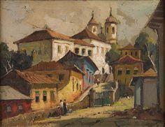 "Durval Pereira, ""Paisagem de Minas Gerais"" Contemporary Photographers, Colorful Artwork, Framed Art, Brazil, Gothic, Architecture, Modern, Cityscapes, Painting"