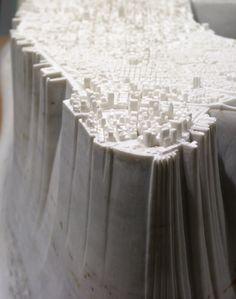Yutaka Sone, Little Manhattan, 2007-2009 Little Manhattan, Manhattan Map, Architecture Design, Arch Model, Japanese Artists, Plans, Art Blog, Sculpture Art, Contemporary Art
