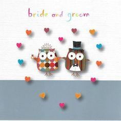 Bride & Groom Wedding Day Greeting Card