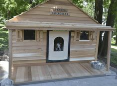Bad ass dog house! You can even install central air and heat. My doggies need this #DogHouse