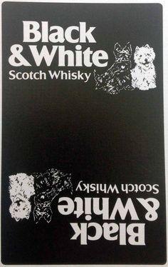 Chiens 'Whisky Black & White' - Carte à Jouer - Années 50