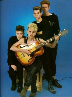 The beautiful Depeche Mode pretty boys 1980's.  Remember back then? Dave Gahan, Martin Gore, Andy Fletcher, and Alan Wilder.