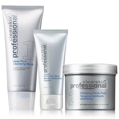 All your skincare needs to get your skin feeling fresh and glowing!A $32 value, this collection includes:• Clearskin Professional Deep Pore Cleansing Scrub – 4.2 fl. oz. $8 value• Clearskin Professional Liquid Extraction Strip – 1 fl. oz. $14 value• Clearskin Professional Clarifying Toner Pads – $10 value