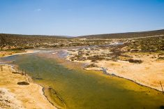 River in Namaqualand stock photo