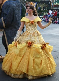 Belle Disney World Christmas ball gown