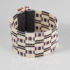 Saganaw Bead Loom Bracelet Artisanal Jewelry Southwestern Western Jewelry Beaded Bohemian Tribal Bright -Colorful by PuebloAndCo on Etsy https://www.etsy.com/listing/263024377/saganaw-bead-loom-bracelet-artisanal