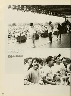 """Athena yearbook, 1990. """"The Marshall Tucker Band, the headlining act, performs in the intramural fields at Springfest."""" :: Ohio University Archives"""