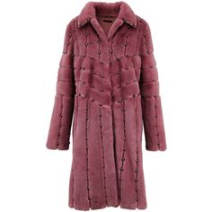 Brandon Sun Clay Rose Studded Mink Coat featuring polyvore women's fashion clothing outerwear coats purple coat mink fur coat mink coat