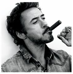 """Robert Downey Jr... I rarely use the phrase """"makes smoking look good"""" but he could make anything look good."""