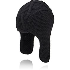 Barneys New York Men's Merino Wool Trapper Hat (955 SAR) ❤ liked on Polyvore featuring men's fashion, men's accessories, men's hats, black, mens hats and mens trapper hat