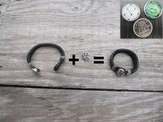 Bijoux interchangeable  Bracelet incluant 1 bouton / Clip par Bijju