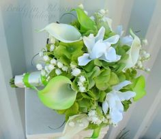 green lily of the valley | lime-green-wedding-bouquet-calla-lily-orchid-lily-of-the-valley-bridal ...