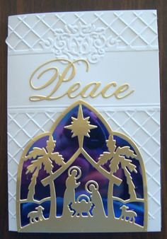 a nativity silhouette using shimmer sheetz from elizabeth craft designs in the background more details religious christmas cardsxmas - Nativity Christmas Cards