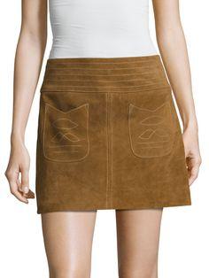 Free People Mini Modern Love Suede Skirt