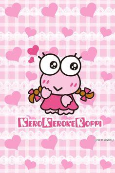 Keroleen Keroppi Wallpaper, Hello Kitty, Pochacco, Cafe Interior Design, Favorite Cartoon Character, Sanrio Characters, Little Twin Stars, Colorful Wallpaper, Kawaii Cute