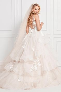 fd0383da63 Wtoo by Watters style Montgomery A sexy illusion embroidered bodice  A  layer-upon-layer embroidered skirt  You may have imagined your fantasy wedding  gown