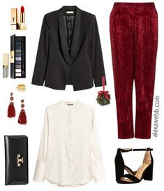 Plus Size Sequin Pants Outfit - Plus Size Holiday NYE Outfit Ideas - Plus Size Fashion for Women - alexawebb.com #alexawebb #plussize