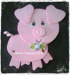 Duck Crafts, Pig Crafts, New Year's Crafts, Foam Crafts, Animal Crafts, Creative Crafts, Diy And Crafts, Crafts For Kids, Arts And Crafts