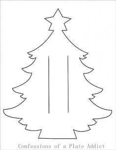 with a French Accent Diy Christmas Napkins, Christmas Tree Template, How To Make Christmas Tree, Handmade Christmas Decorations, Christmas Makes, Simple Christmas, All Things Christmas, Christmas Holidays, Christmas Ornaments