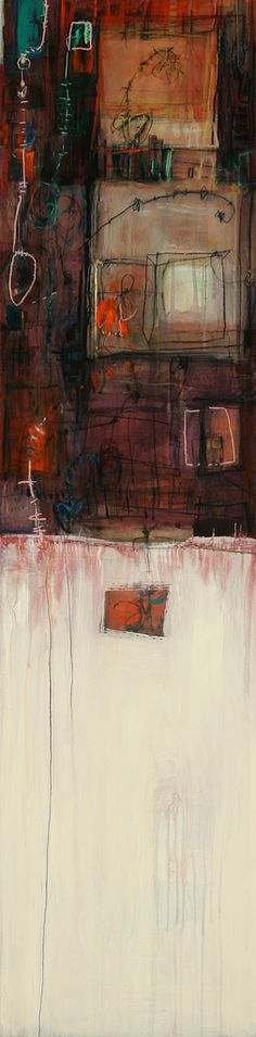 """Apartment"", 48""x12"", acrylic on panel 