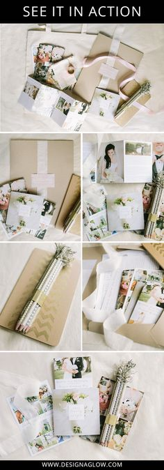 """"""" In less than an hour, I had the entire welcome packet designed and sent to the printers! Once assembled all together in the welcome folders, along with a copy of their signed contract, the entire set of printed products looks so beautiful and professionally done.""""-Kat from Mustard Seed Photography"""