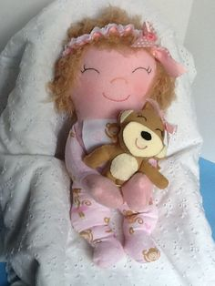 PDF Cloth Rag Doll Pattern Snuggles - Easy Great Beginner Sewing Pattern for 15…